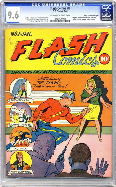 flash comics #1 cgc 9.6